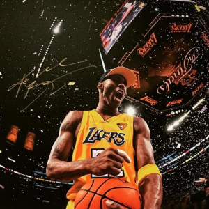 Autographed picture of Kobe Bryant