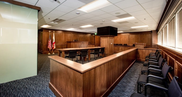 View of the full mock courtroom
